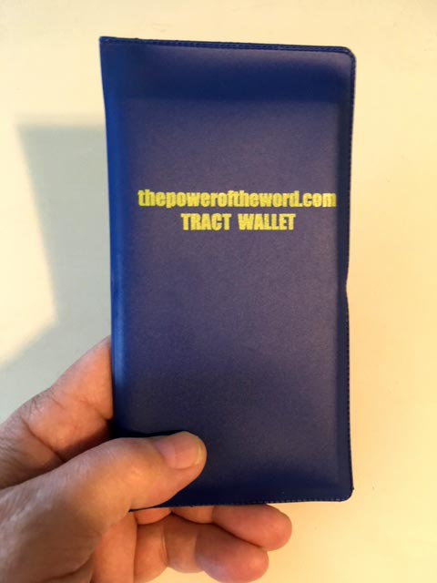 Custom Tract Wallet - Outside
