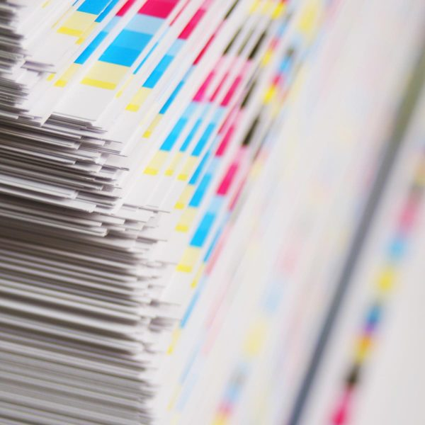 stack of printed material